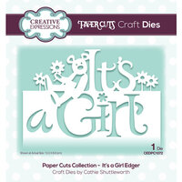 Creative Expressions - Paper Cuts Collection - Dies - It's a Girl Edger