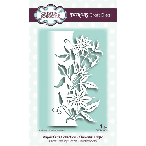 Creative Expressions - Paper Cuts Collection - Craft Die - Clematis Edger