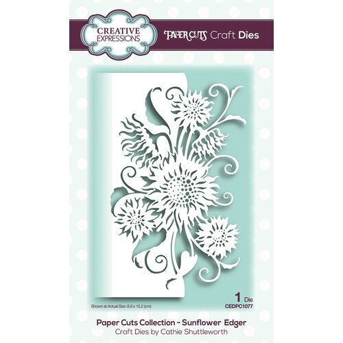 Creative Expressions - Paper Cuts Collection - Craft Die - Sunflower Edger