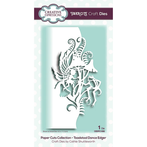 Creative Expressions - Paper Cuts Collection - Craft Die - Toadstool Dance Edger