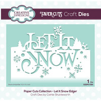 Creative Expressions - Christmas - Paper Cuts Collection - Craft Die - Let It Snow