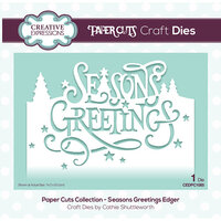 Creative Expressions - Paper Cuts Collection - Craft Die - Seasons Greetings