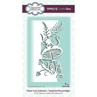 Creative Expressions - Paper Cuts Collection - Craft Die - Toadstool Mouse Edger