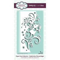 Creative Expressions - Paper Cuts Collection - Craft Die - Celebration Mouse Edger