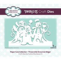 Creative Expressions - Paper Cuts Collection - Christmas - Craft Die - Three Little Snowmen Edger