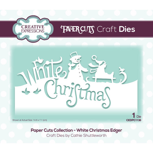 Creative Expressions - Paper Cuts Collection - Craft Die - White Christmas
