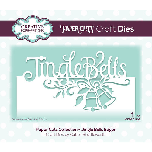 Creative Expressions - Paper Cuts Collection - Christmas - Craft Die - Jingle Bells