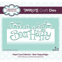 Creative Expressions - Paper Cuts Collection - Craft Die - Beer Happy Edger