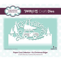 Creative Expressions - Paper Cuts Collection - Craft Dies - Christmas - It's Christmas Edger