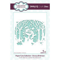 Creative Expressions - Paper Cuts Collection - Christmas - Craft Dies - Snowy Embrace