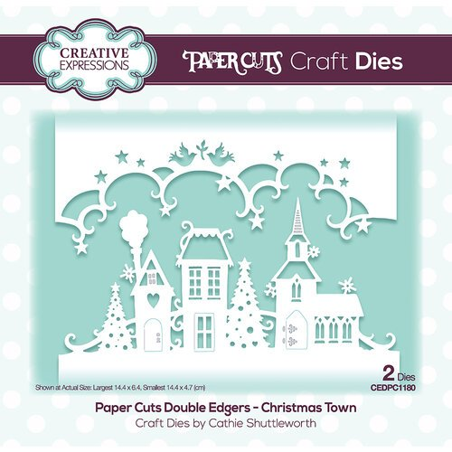 Creative Expressions - Paper Cuts Collection - Craft Dies - Christmas Town Double Edger