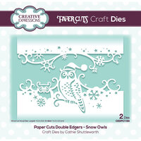 Creative Expressions - Paper Cuts Collection - Christmas - Craft Dies - Snow Owls Double Edger