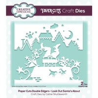 Creative Expressions - Paper Cuts Collection - Christmas - Craft Dies - Look Out Santa's About Double Edger