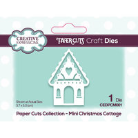 Creative Expressions - Paper Cuts Collection - Craft Die - Christmas Cottage Mini