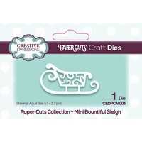 Creative Expressions - Paper Cuts Collection - Craft Die - Bountiful Sleigh Mini
