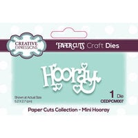 Creative Expressions - Paper Cuts Collection - Craft Dies - Mini - Hooray