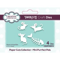 Creative Expressions - Paper Cuts Collection - Craft Dies - Mini - Purrfect Pals
