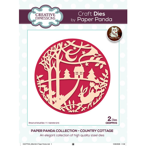 Creative Expressions - Paper Panda Collection - Craft Dies - Country Cottage