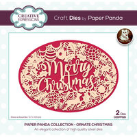 Creative Expressions - Paper Panda Collection - Christmas - Craft Dies - Ornate Christmas