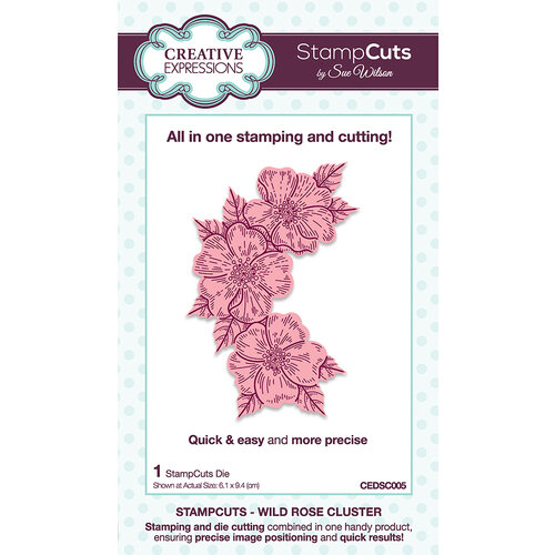 Creative Expressions - StampCuts - Wild Rose Cluster
