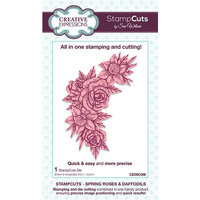 Creative Expressions - StampCuts - Spring Roses And Daffodils