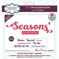 Creative Expressions - Christmas - Craft Dies and Clear Photopolymer Stamp Set - Seasons