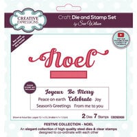 Creative Expressions - Christmas - Craft Dies and Clear Photopolymer Stamp Set - Noel