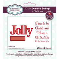 Creative Expressions - Christmas - Festive Collection - Craft Die and Clear Photopolymer Stamp Set - Jolly