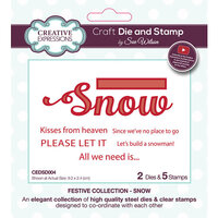 Creative Expressions - Christmas - Festive Collection - Craft Die and Clear Photopolymer Stamp Set - Snow
