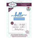 Creative Expressions - Craft Die and Clear Photopolymer Stamp Set - Bold Shadowed Sentiments - Hello