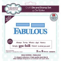 Creative Expressions - Craft Die and Clear Photopolymer Stamp Set - Fabulous
