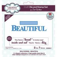 Creative Expressions - Craft Die and Clear Photopolymer Stamp Set - Beautiful