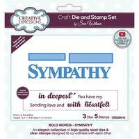 Creative Expressions - Craft Die and Clear Photopolymer Stamp Set - Sympathy
