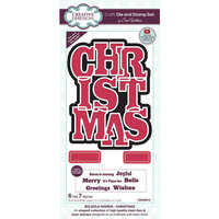 Creative Expressions - Big Bold Words Collection - Craft Die and Stamp Set - Christmas Word