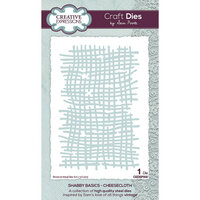 Creative Expressions - Shabby Basics Collection - Craft Dies - Cheesecloth