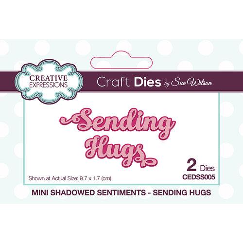 Creative Expressions - Mini Shadowed Sentiments - Dies - Sending Hugs