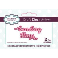 Creative Expressions - Mini Shadowed Sentiments - Dies - Sending Hugs