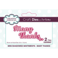 Creative Expressions - Mini Shadowed Sentiments - Dies - Many Thanks
