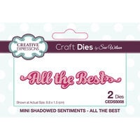 Creative Expressions - Mini Shadowed Sentiments - Dies - All the Best
