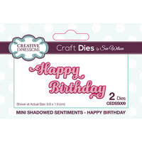 Creative Expressions - Mini Shadowed Sentiments - Dies - Happy Birthday