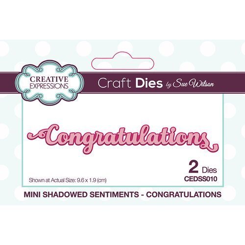 Creative Expressions - Mini Shadowed Sentiments - Dies - Congratulations