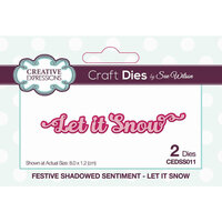 Creative Expressions - Christmas - Craft Die - Festive Shadowed Sentiment - Let It Snow