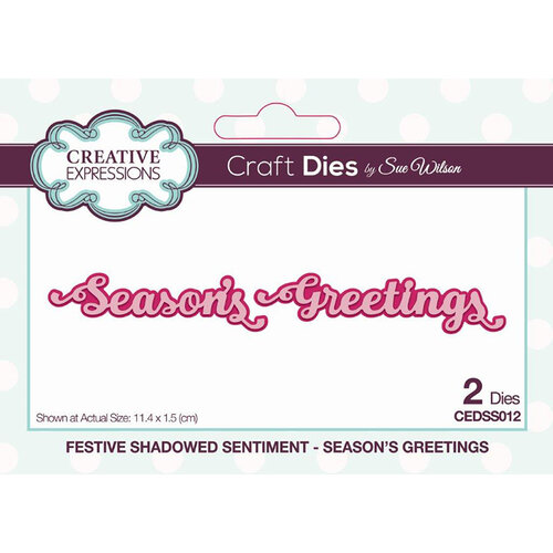 Creative Expressions - Craft Die - Festive Shadowed Sentiment - Season