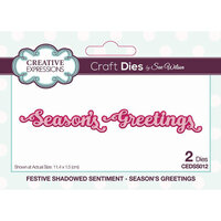 Creative Expressions - Craft Die - Festive Shadowed Sentiment - Season's Greetings