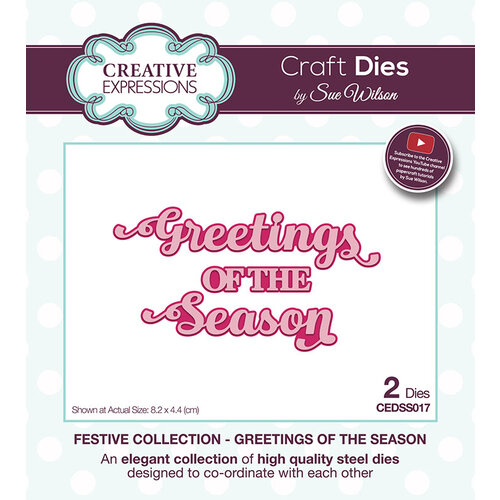 Creative Expressions - Christmas - Festive Collection - Craft Die - Greetings of the Season
