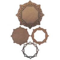 Creative Expressions - Wood Embellishments - Spiky Octagon
