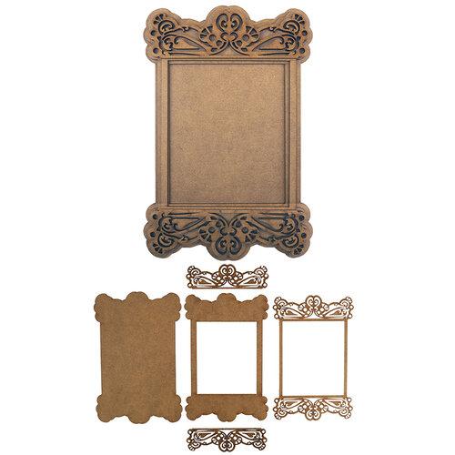 Creative Expressions - Wood Embellishments - Layered Portrait Rectangle