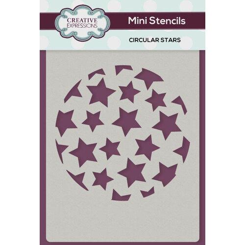Creative Expressions - Stencils - Mini - Circular Stars