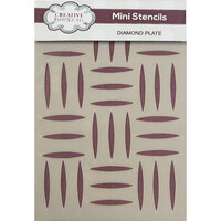 Creative Expressions - Stencils - Mini - Diamond Plate