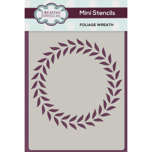 Creative Expressions - Stencils - Mini - Foliage Wreath